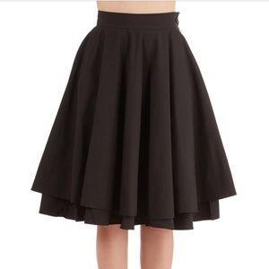 ModCloth Dual Layered Black Skirt